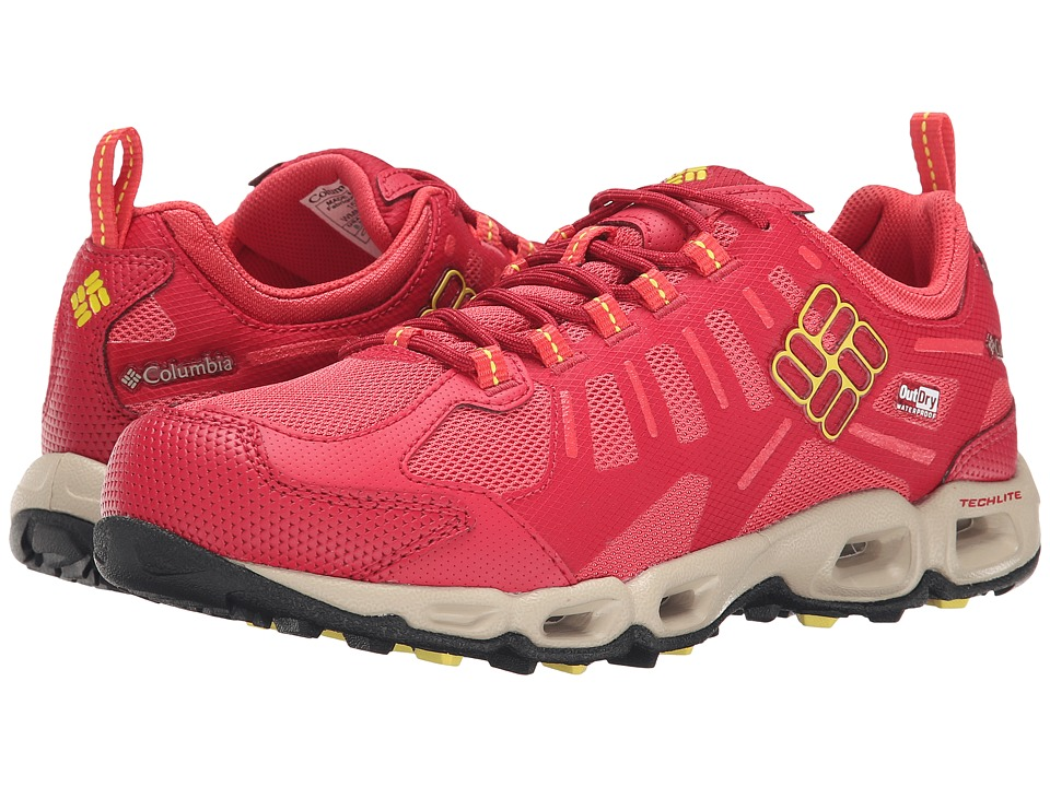 Columbia - Ventfreak Outdry (Sunset Red/Acid Yellow) Women