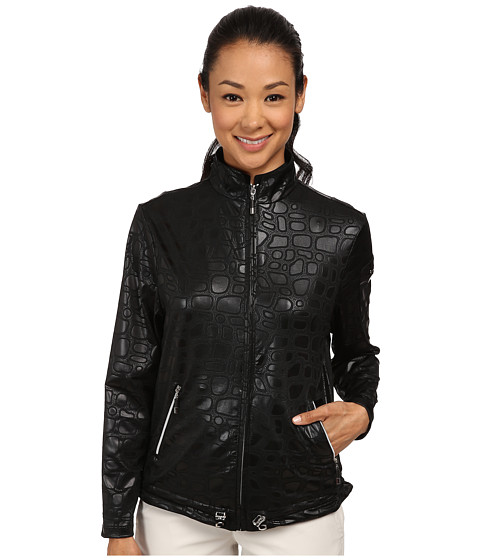 Jamie Sadock - Stone Textured Print Jacket (Jet Black) Women's Coat