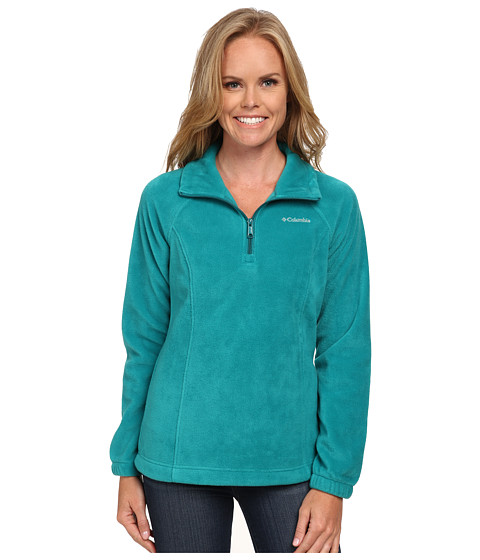 Columbia - Benton Springs 1/2 Zip (Emerald/Deep Wave Zip) Women