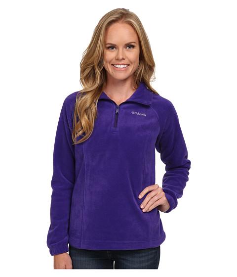 Columbia - Benton Springs 1/2 Zip (Hyper Purple/Light Grape Zip) Women