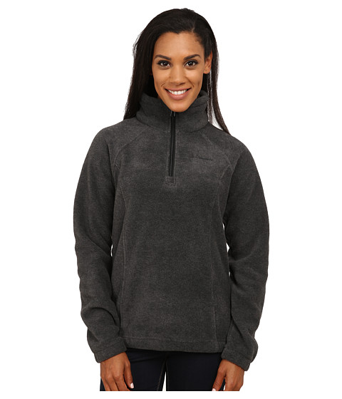 Columbia - Benton Springs 1/2 Zip (Charcoal Heather) Women