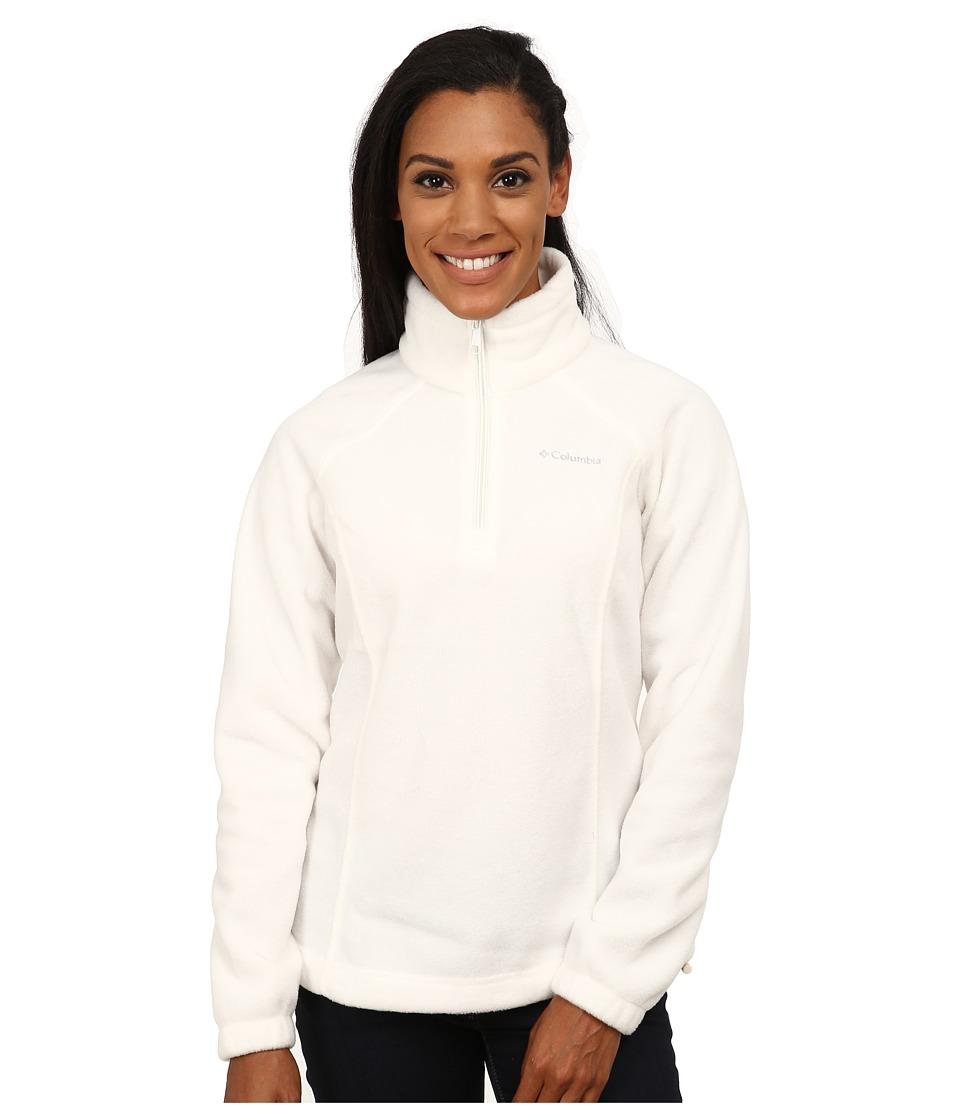Columbia - Benton Springs 1/2 Zip (Sea Salt) Women's Long Sleeve Pullover