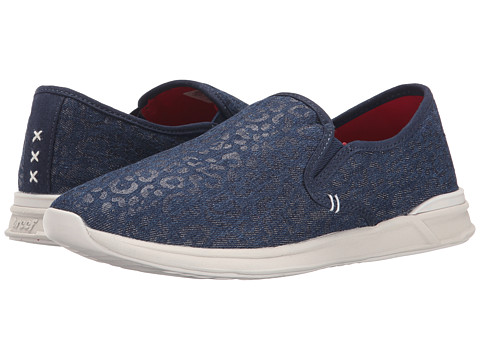 Reef - Rover Slip-On TX (Indigo Leopard) Women's Shoes