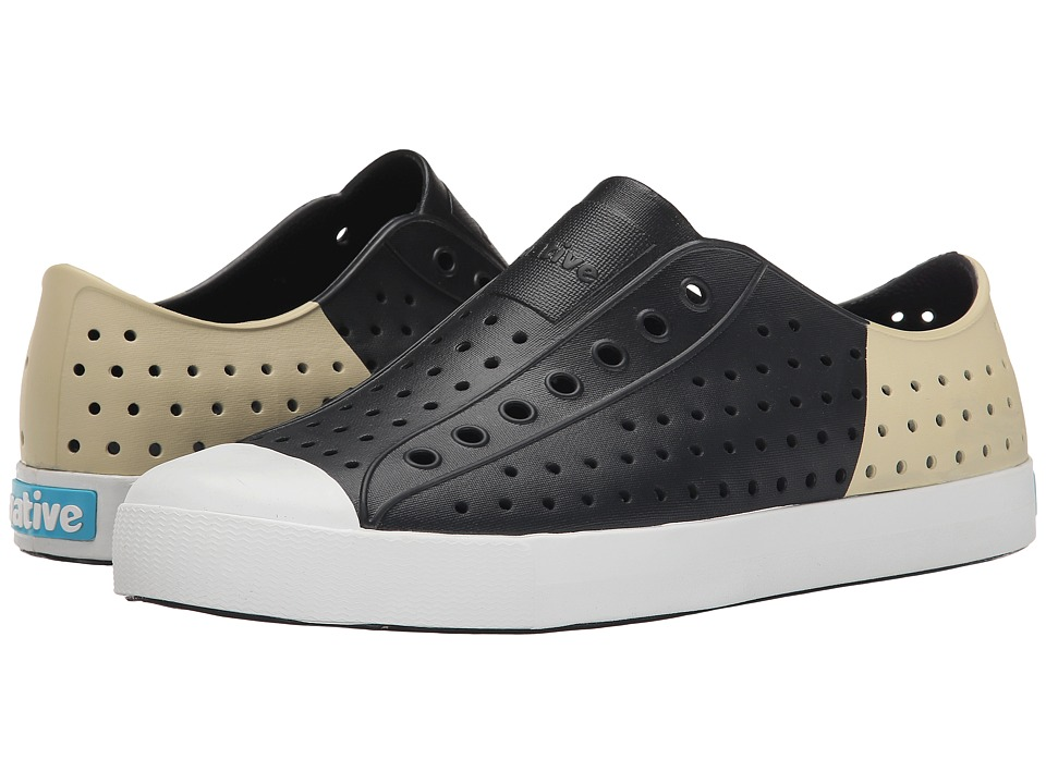 Native Shoes - Jefferson (Jiffy Black/Shell White/Bone Block) Shoes