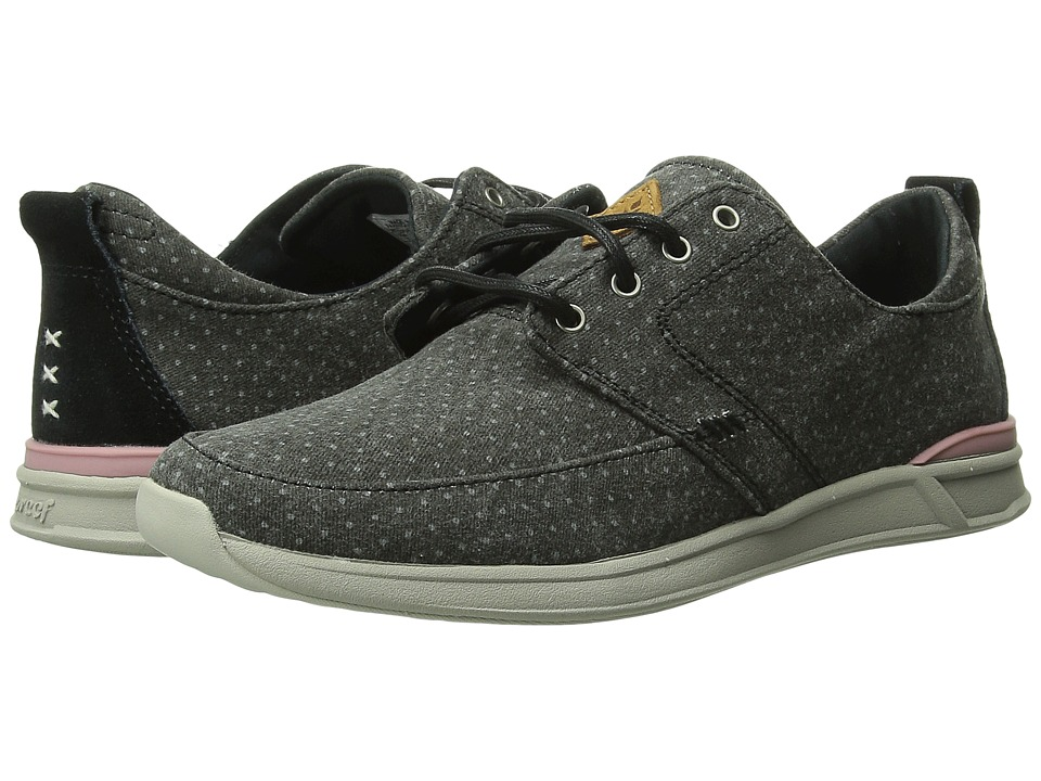 Reef - Rover Low Prints (Black Dots) Women's Shoes