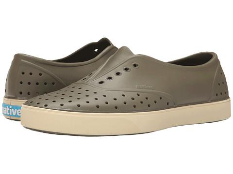 Native Shoes - Miller (Utili Green/Bone White) Slip on Shoes