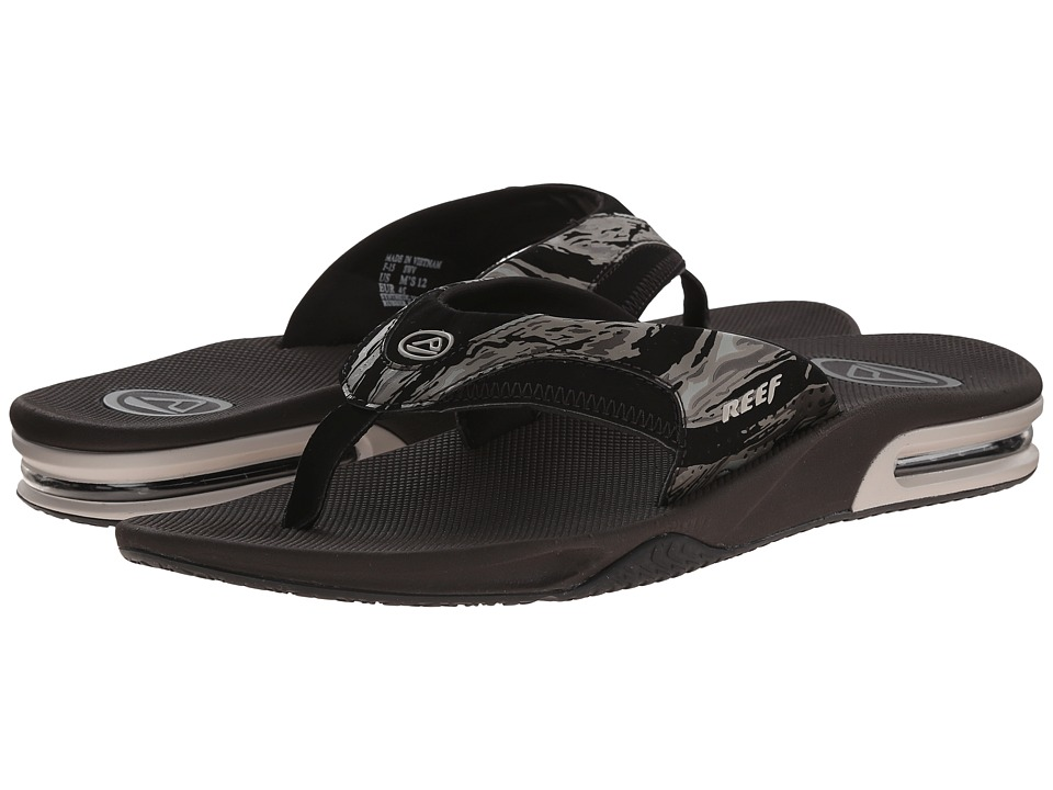 Reef - Fanning Prints (Army Camo) Men's Sandals