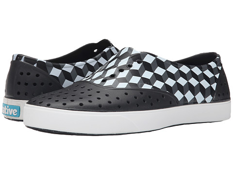 Native Shoes - Miller (Jiffy Black/Shell White/3D Checker) Slip on Shoes