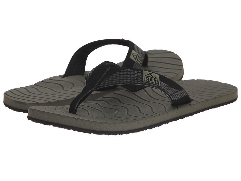 Reef - Roundhouse (Black/Olive) Men's Sandals