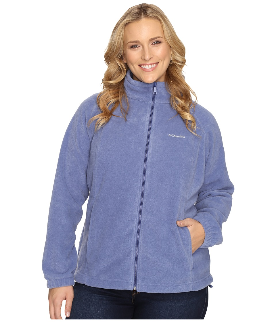 Columbia - Plus Size Benton Springs Full Zip (Bluebell) Women's Sweatshirt