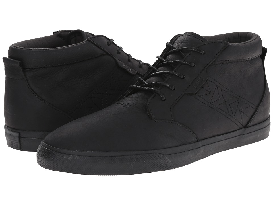 Reef - Outhaul Lux (Black) Men's Shoes