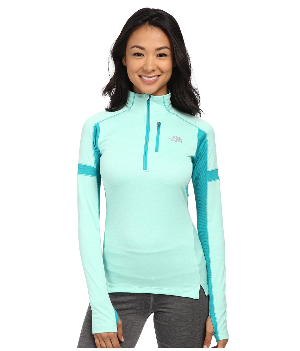The North Face - Impulse Active 1/4 Zip Pullover (Surf Green Heather/Kokomo Green) Women's Long Sleeve Pullover