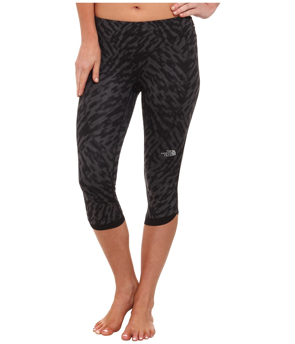The North Face - GTD Capri Tight (Asphalt Grey Wild Print) Women's Workout