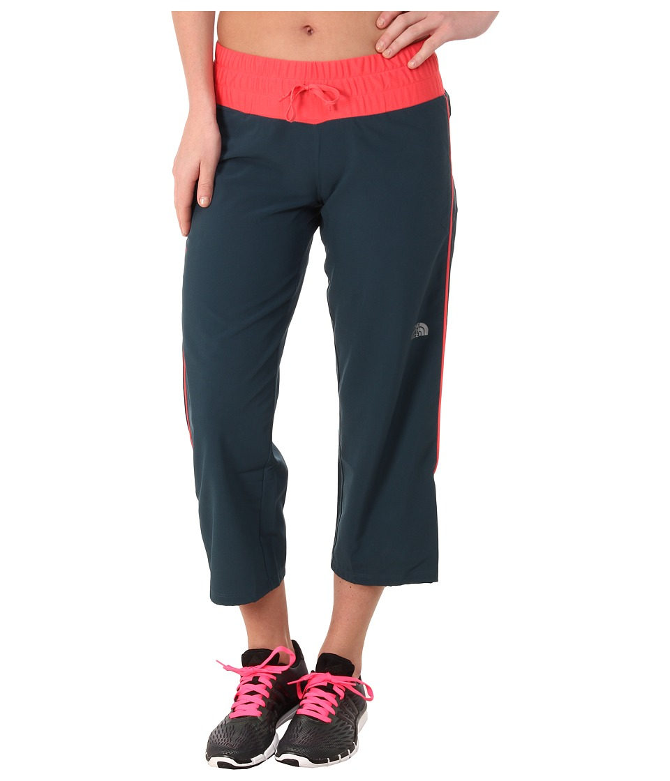The North Face - Torpedo Stretch Capri (Kodiak Blue/Snowcone Red) Women's Capri