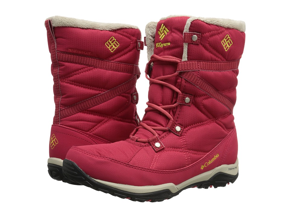 Columbia - Minx Fire Tall Omni-Heat Waterproof (Ruby/Acid Yellow) Women's Cold Weather Boots