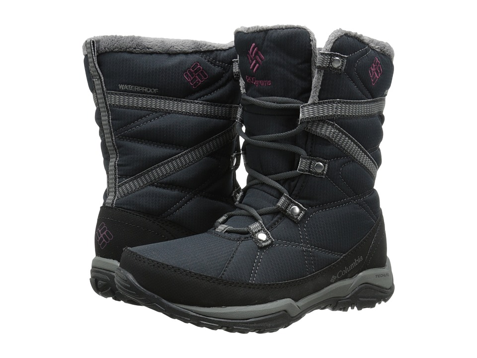 Columbia - Minx Fire Tall Omni-Heat Waterproof (Black/Dark Raspberry) Women's Cold Weather Boots