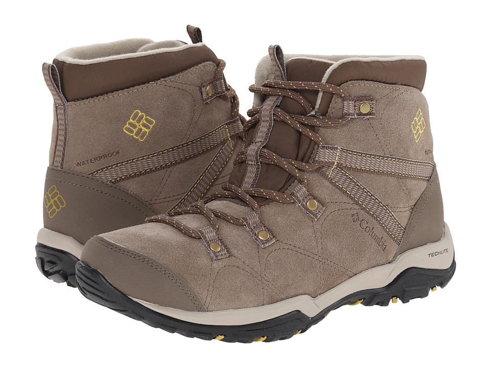 Columbia - Minx Fire Mid Waterproof (Pebble/Antique Moss) Women