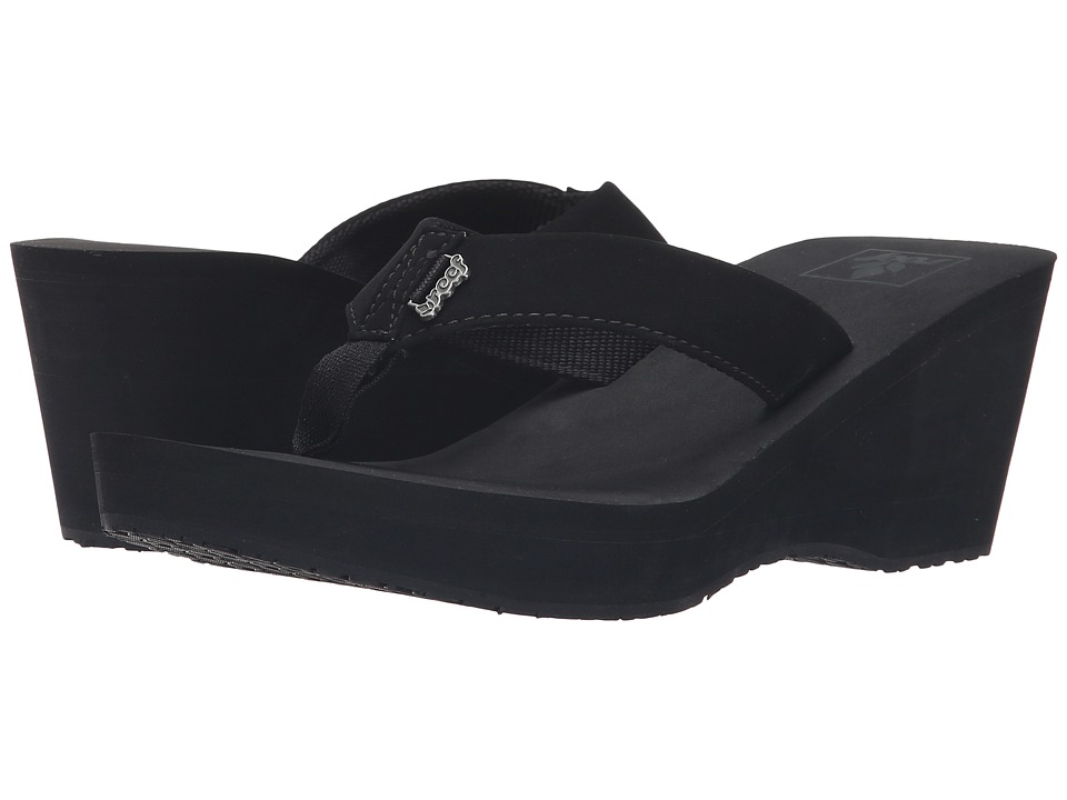 Reef - Mid Skies (Black/Black) Women's Sandals