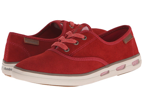 Columbia - Vulc N Vent Lace Suede (Red Dahlia/Truffle) Women