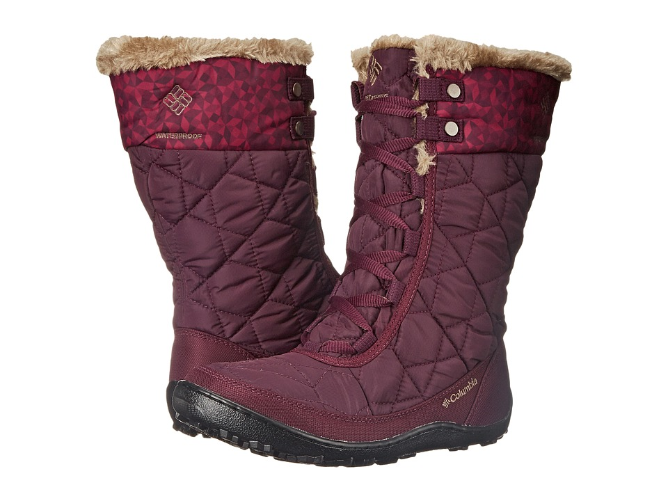 Columbia - Minx Mid II Omni-Heat Print (Purple Dahlia/Wet Sand) Women's Cold Weather Boots