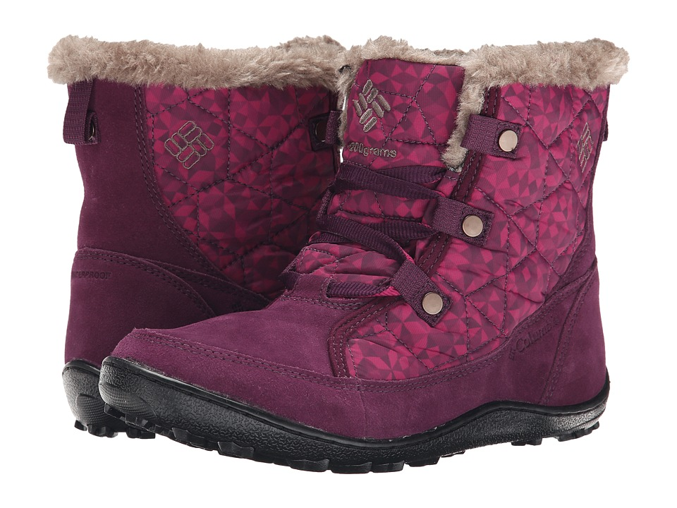 Columbia - Minx Shorty Omni-Heat Print (Purple Dahlia/Wet Sand) Women's Cold Weather Boots
