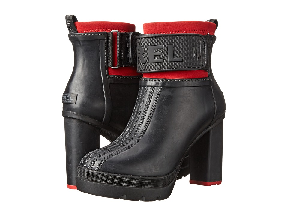 SOREL - Medina III (Black/Bright Red) Women's Cold Weather Boots