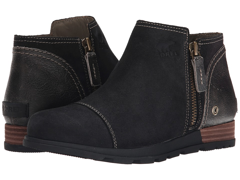 SOREL - Major Low (Black/Wet Sand) Women's Zip Boots