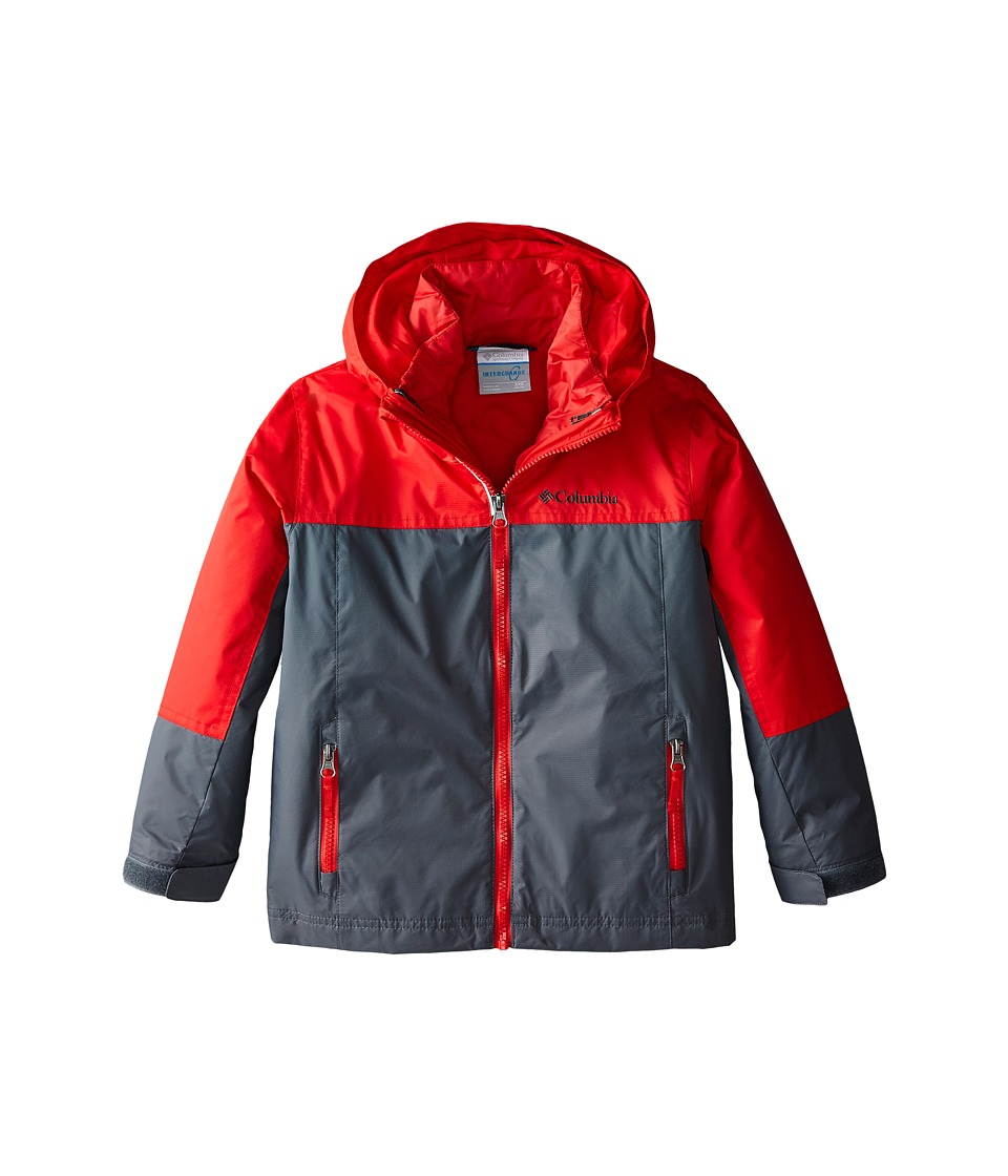 Columbia Kids - Blizzinator Interchange Jacket (Little Kids/Big Kids) (Bright Red/Graphite) Boy's Coat