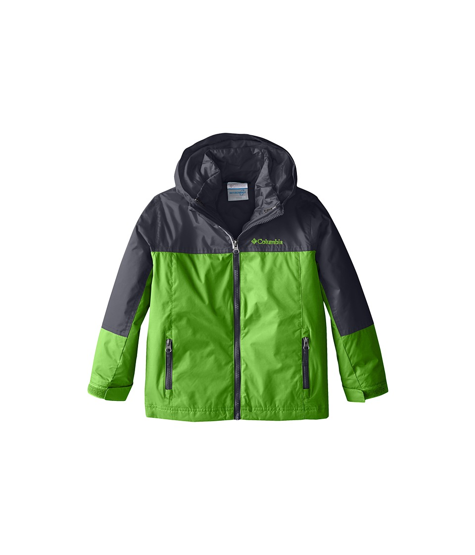 Columbia Kids - Blizzinator Interchange Jacket (Little Kids/Big Kids) (Cyber Green/Graphite) Boy's Coat