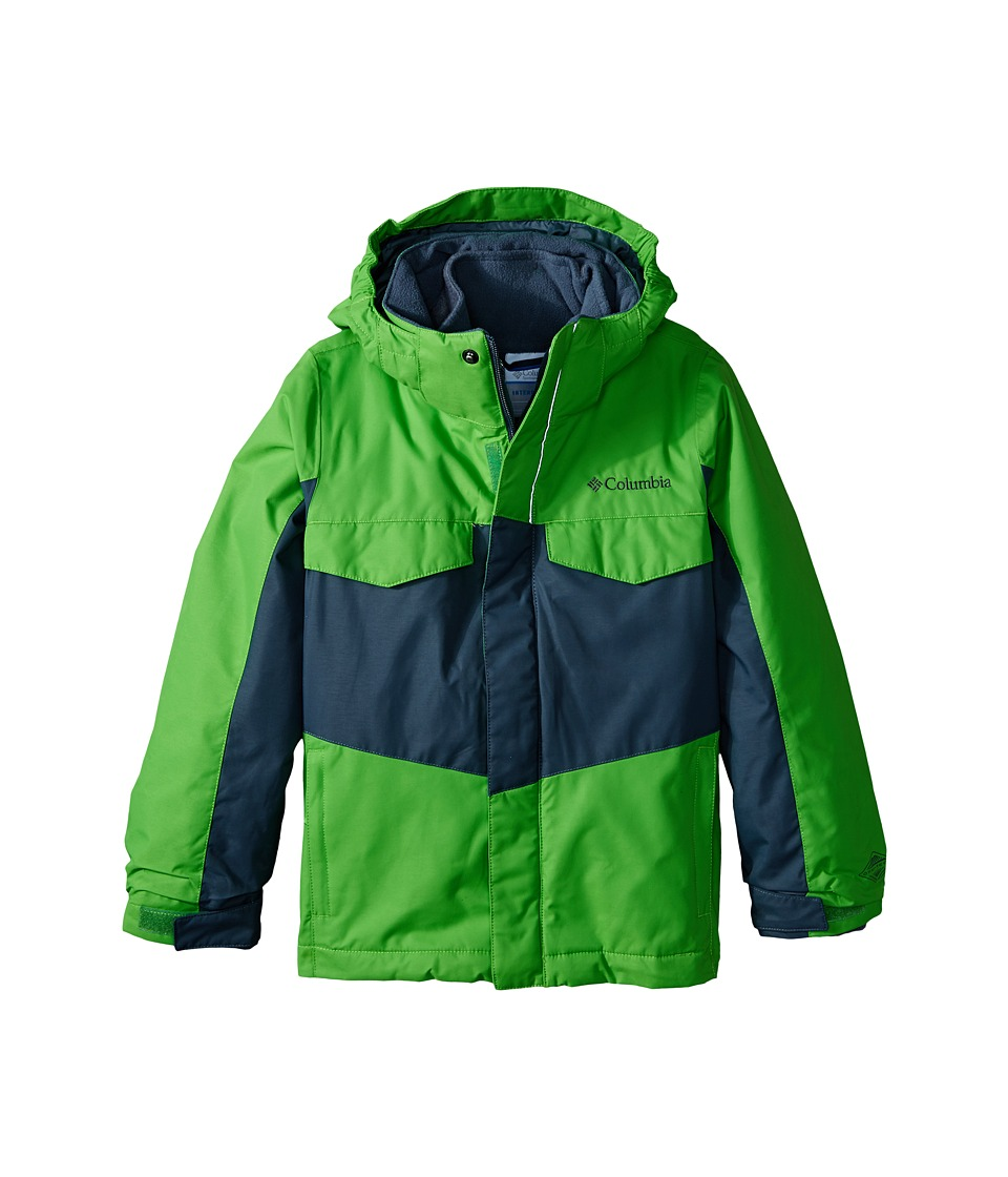 Columbia Kids - Bugaboo Interchange (Little Kids/Big Kids) (Cyber Green/Graphite) Boy's Coat