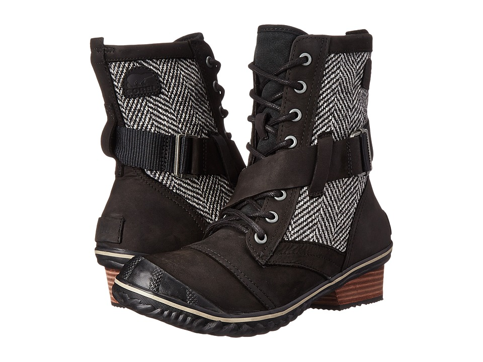 SOREL - Slimboot Lace (Black) Women's Lace-up Boots