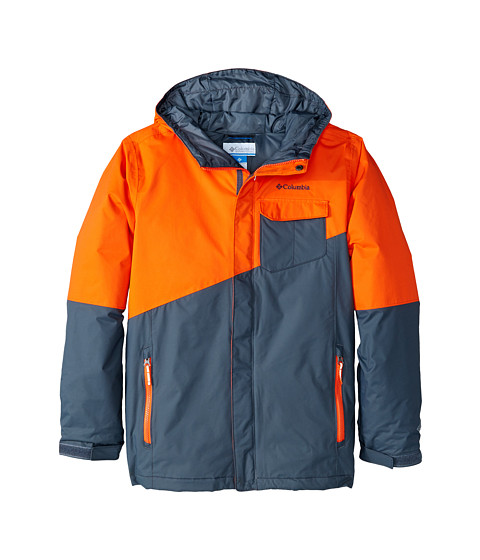 Columbia Kids - Tenacious Jacket (Little Kids/Big Kids) (Tangy Orange/Graphite) Boy's Coat