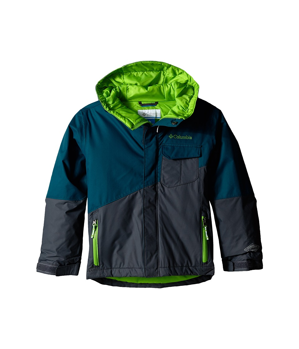 Columbia Kids - Tenacious Jacket (Little Kids/Big Kids) (Deep Wave/Graphite/Cyber Green Pops) Boy's Coat