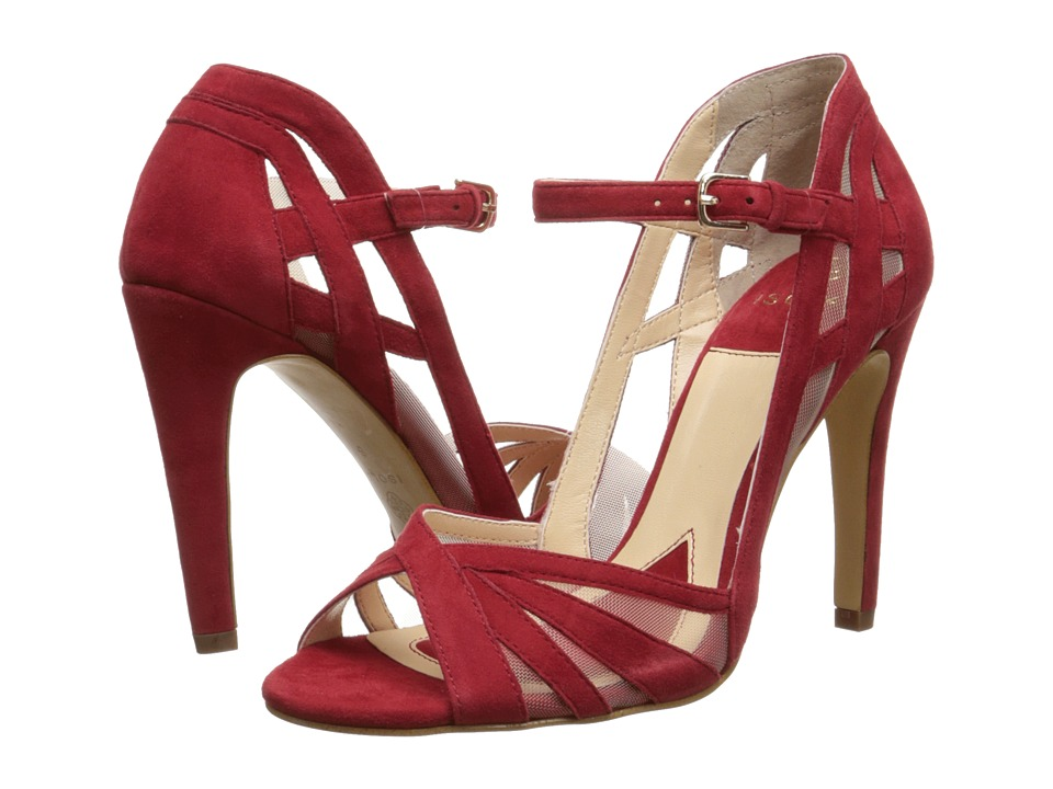 Isola Braewyn (Fire Red Suede Chrome Free Suede/Mesh) High Heels