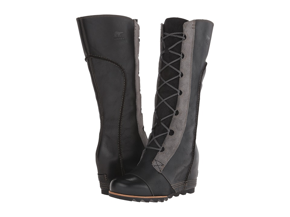SOREL - Cate the Great Wedge (Black) Women's Dress Boots