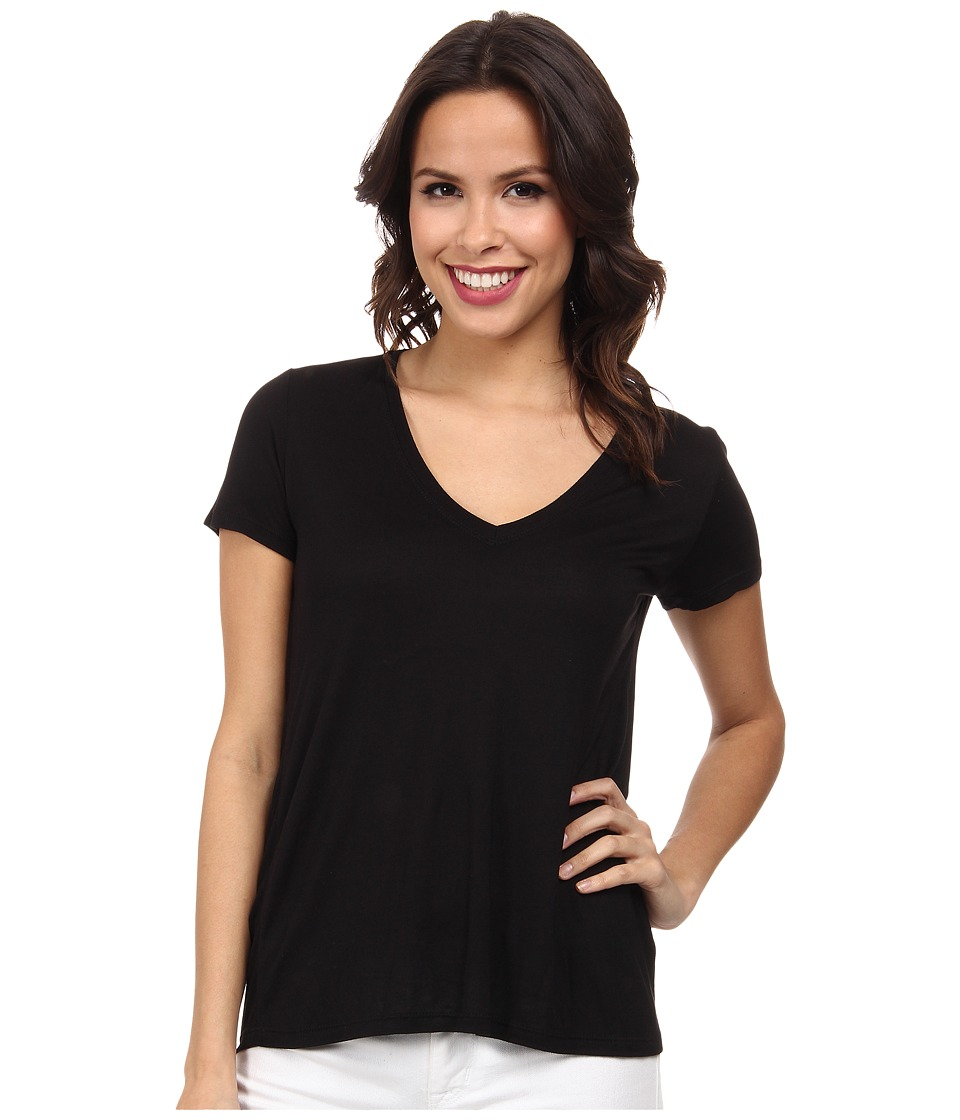 MICHAEL Michael Kors - Short Sleeve Hi-Low Hem Tee (Black) Women