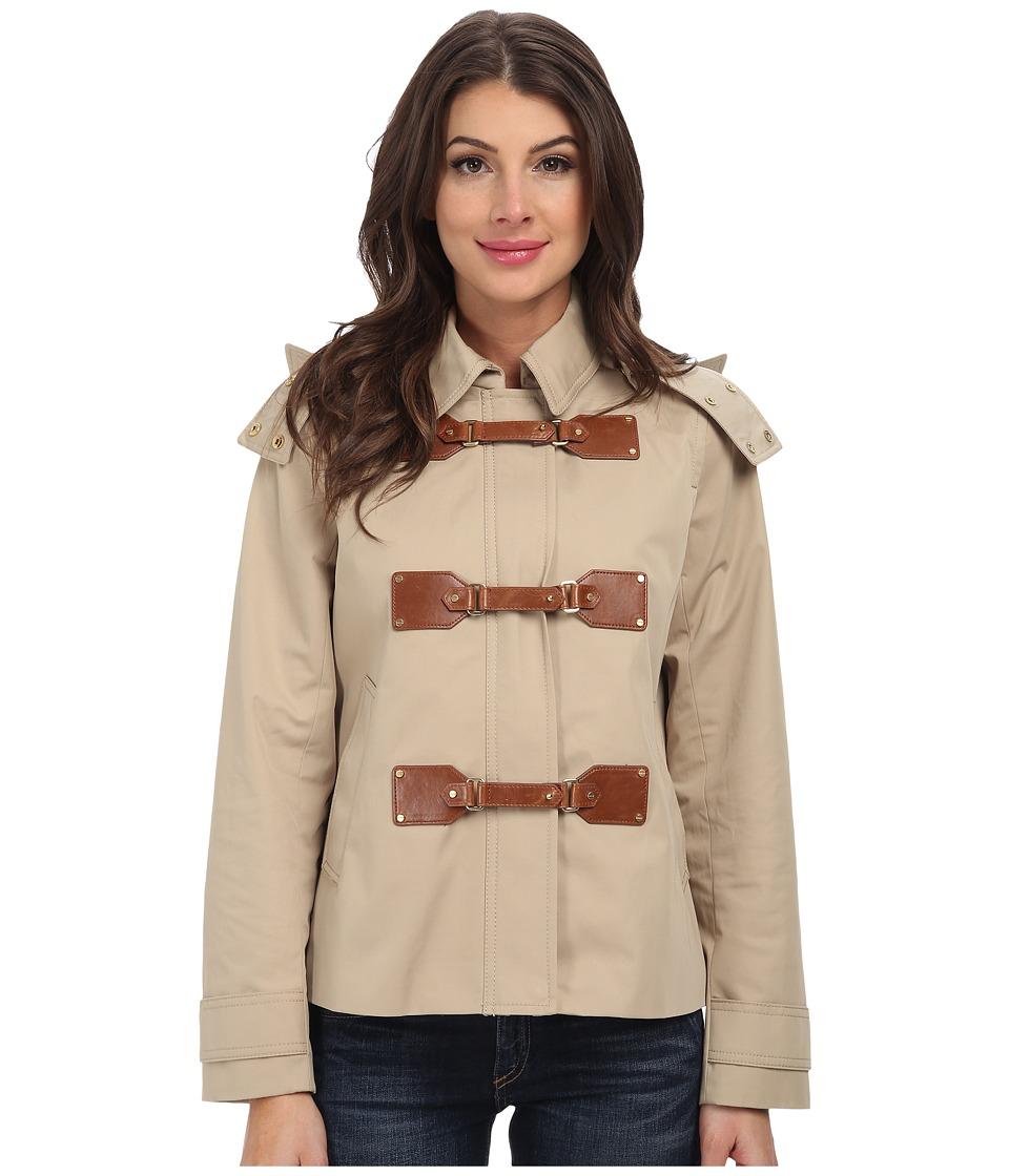 MICHAEL Michael Kors - Cropped Duffle Coat (Khaki) Women