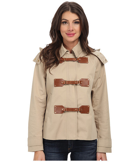 MICHAEL Michael Kors - Cropped Duffle Coat (Khaki) Women's Coat