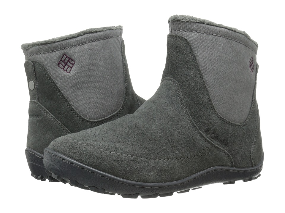 Columbia - Minx Nocca Slip (Grill/Dark Raspberry) Women's Cold Weather Boots