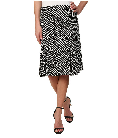MICHAEL Michael Kors - Godet Panel Matte Jersey Skirt (Black) Women's Skirt
