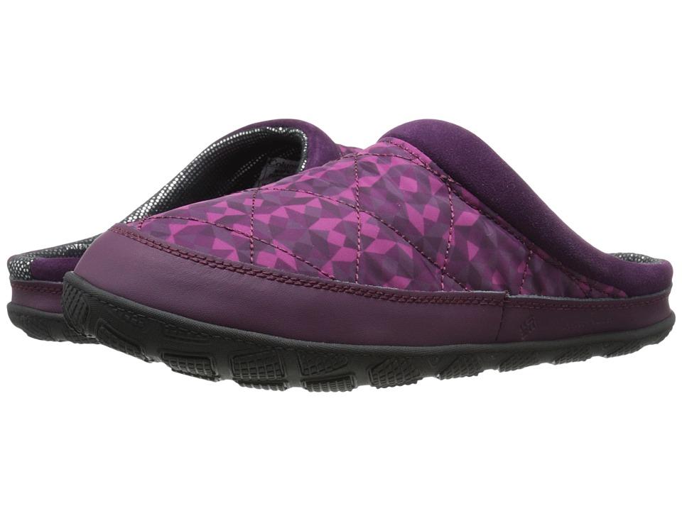 Columbia - Packed Out II Print Omni-Heat (Purple Dahlia/Red Plum) Women's Slippers