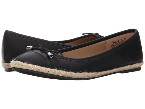 Wanted - Riello (Black) Women's Flat Shoes