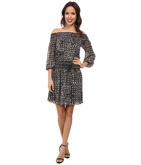 MICHAEL Michael Kors - Mandera Smock Dress (Black) Women