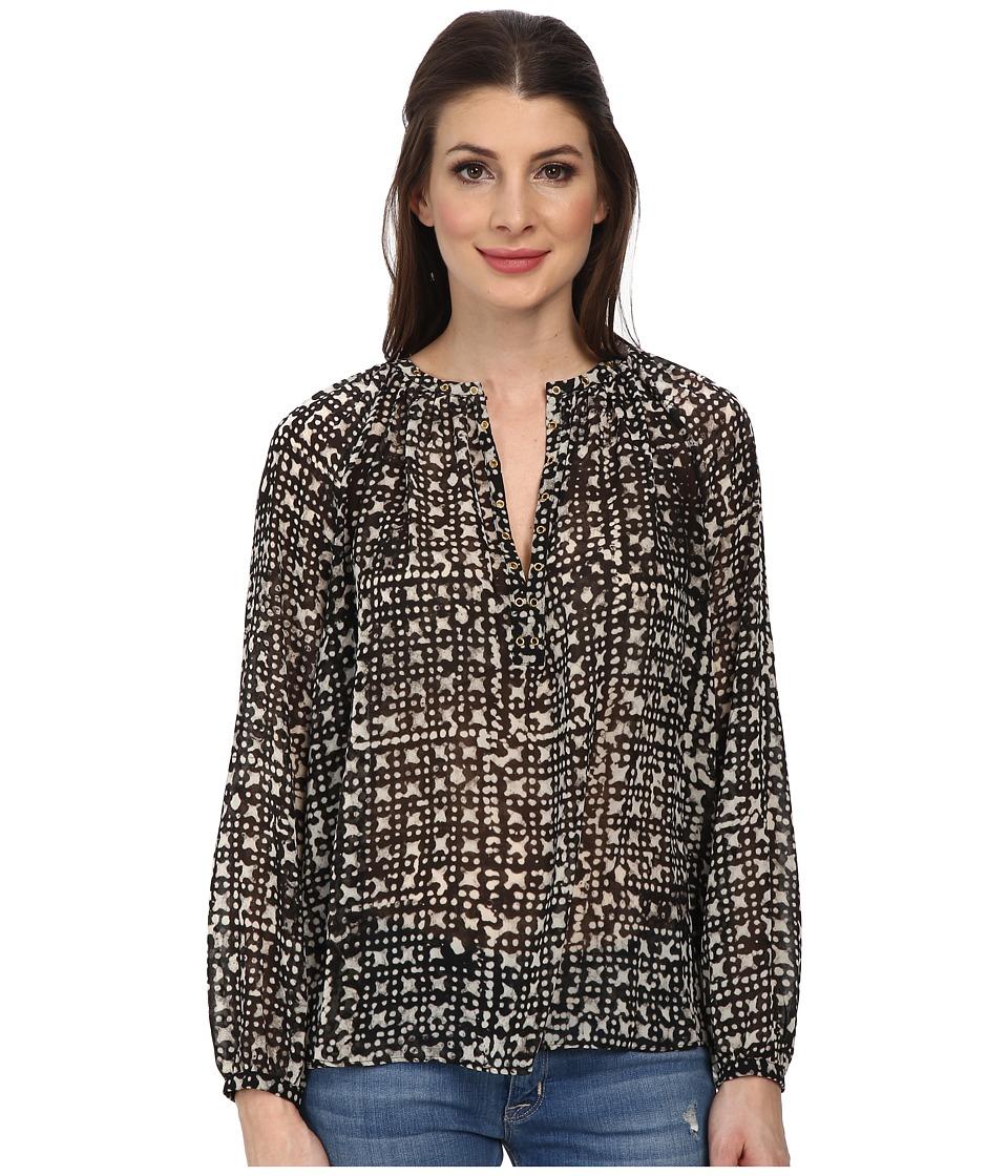 MICHAEL Michael Kors - Mandera Raglan Sleeve Top (Black) Women's Clothing
