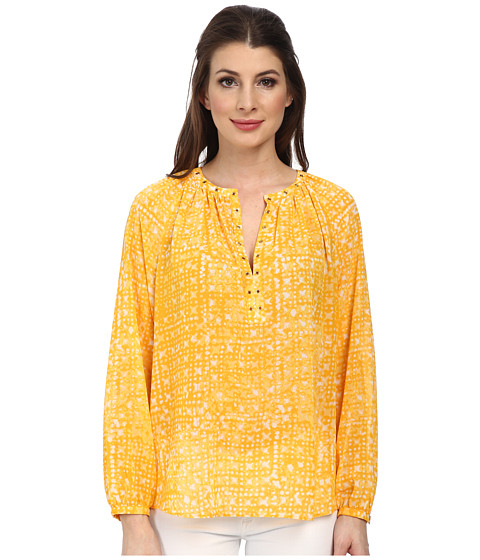 MICHAEL Michael Kors - Mandera Raglan Sleeve Top (Ecru/Taxi Yellow) Women's Clothing