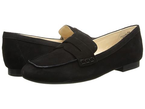 Nine West - Linear (Black/Black Suede) Women's Slip on Shoes