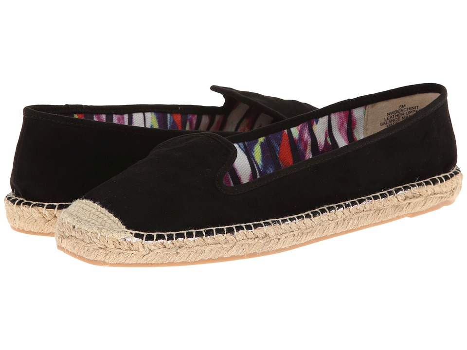Nine West - Beachinit (Black/Black Suede) Women's Slip on Shoes