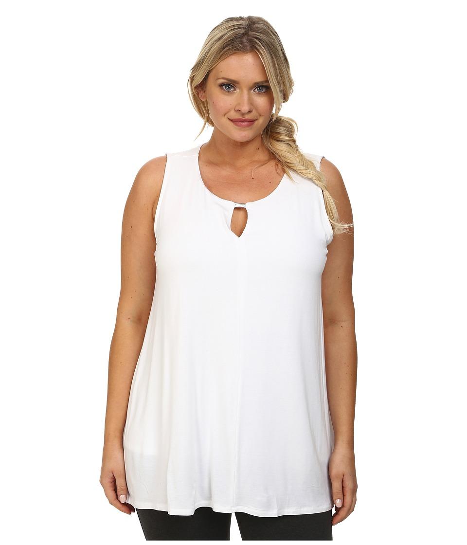 Lysse - Plus Size Vista Sleeveless (White) Women's Sleeveless
