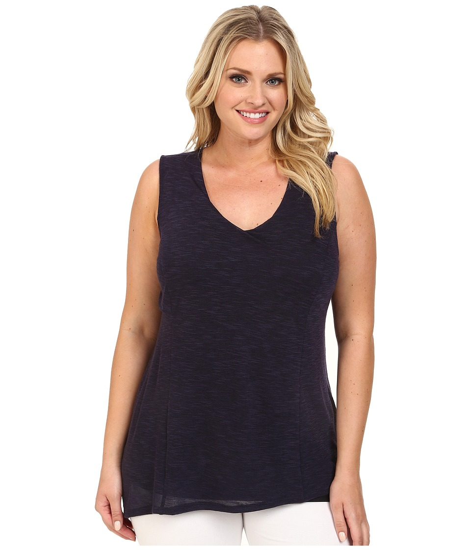 Lysse - Plus Size Yucca Tunic Top (Eclipse) Women's Sleeveless