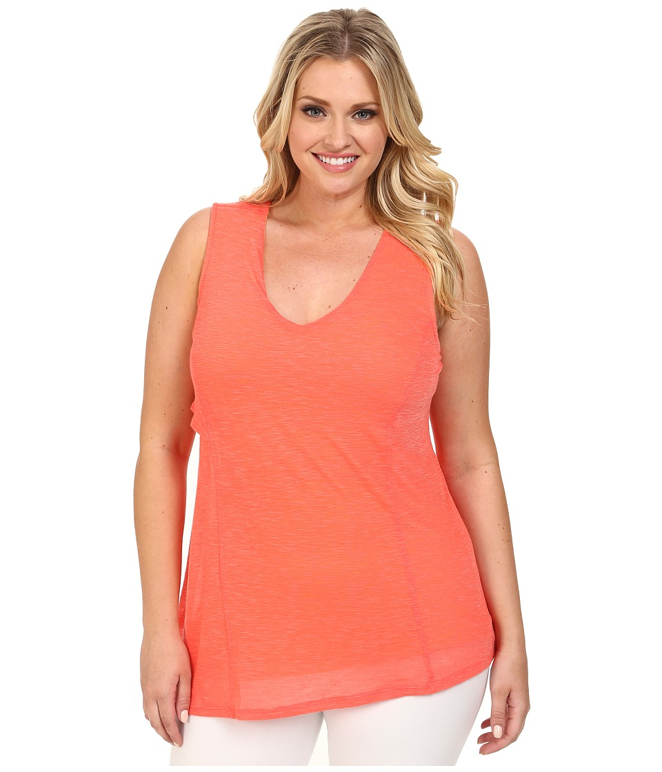 Lysse - Plus Size Yucca Tunic Top (Red Coral) Women's Sleeveless